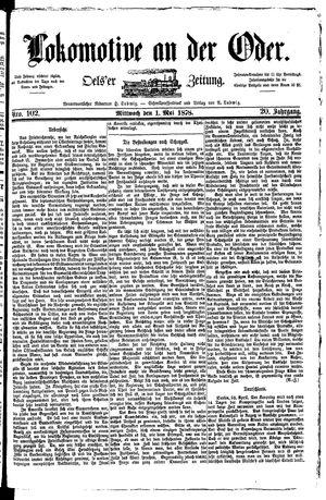 Lokomotive an der Oder vom 01.05.1878