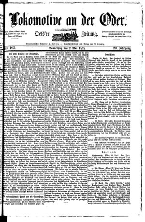 Lokomotive an der Oder vom 02.05.1878