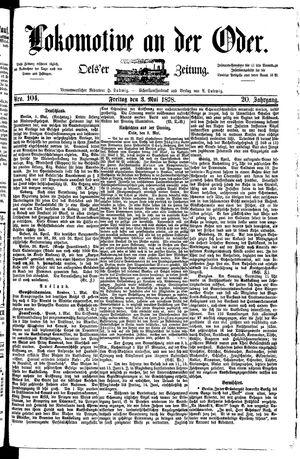 Lokomotive an der Oder vom 03.05.1878