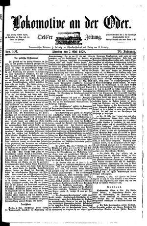 Lokomotive an der Oder vom 07.05.1878
