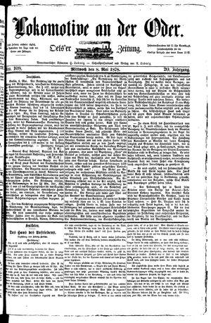 Lokomotive an der Oder vom 08.05.1878