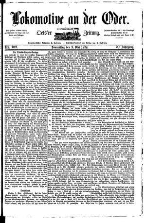 Lokomotive an der Oder vom 09.05.1878