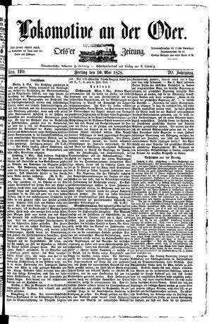 Lokomotive an der Oder vom 10.05.1878