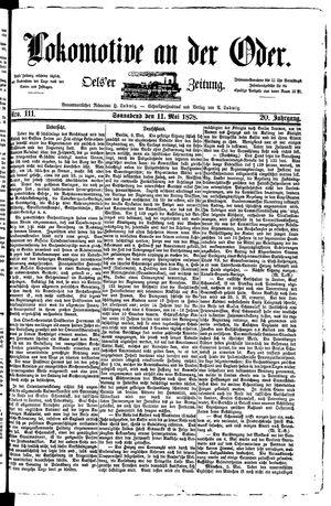 Lokomotive an der Oder vom 11.05.1878