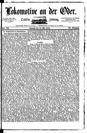 Lokomotive an der Oder vom 12.05.1878