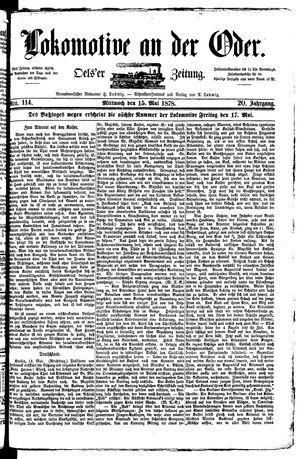 Lokomotive an der Oder vom 15.05.1878
