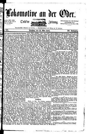 Lokomotive an der Oder vom 21.05.1878