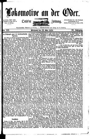 Lokomotive an der Oder vom 22.05.1878