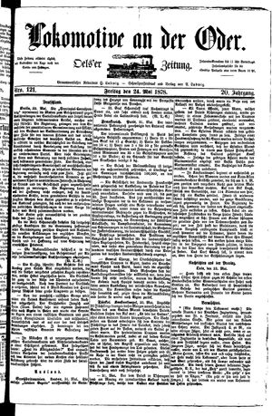 Lokomotive an der Oder vom 24.05.1878