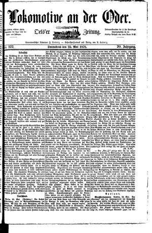 Lokomotive an der Oder vom 25.05.1878