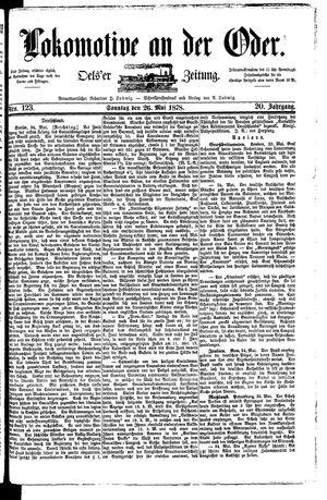 Lokomotive an der Oder vom 26.05.1878