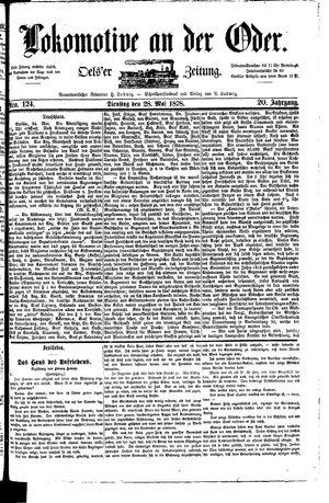 Lokomotive an der Oder vom 28.05.1878