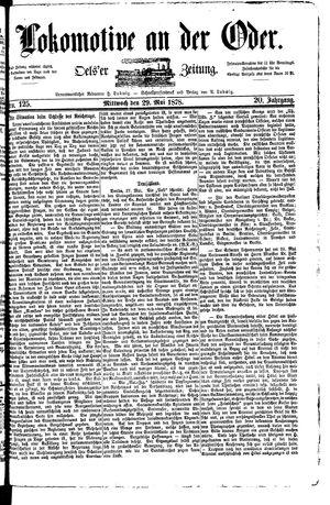 Lokomotive an der Oder vom 29.05.1878