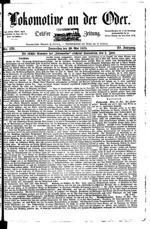 Lokomotive an der Oder vom 30.05.1878