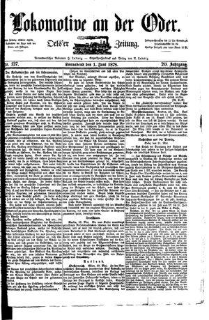 Lokomotive an der Oder on Jun 1, 1878