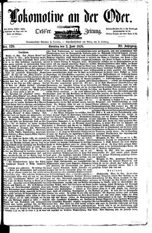Lokomotive an der Oder vom 02.06.1878