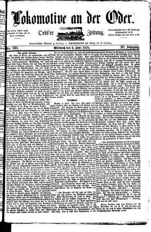 Lokomotive an der Oder vom 05.06.1878