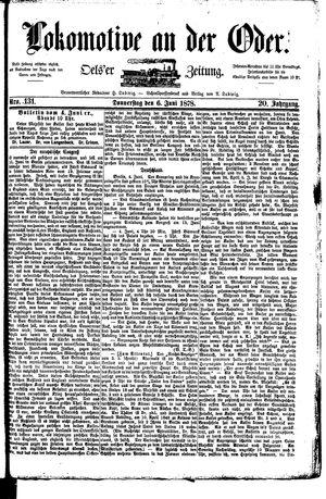 Lokomotive an der Oder vom 06.06.1878