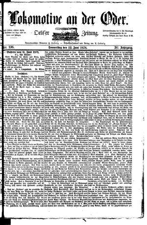 Lokomotive an der Oder vom 13.06.1878
