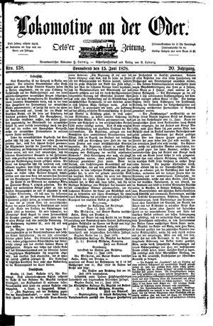 Lokomotive an der Oder vom 15.06.1878