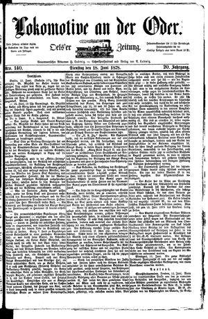 Lokomotive an der Oder on Jun 18, 1878