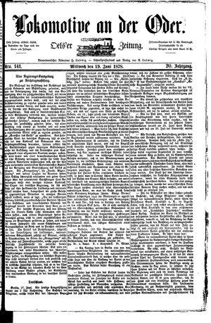 Lokomotive an der Oder vom 19.06.1878