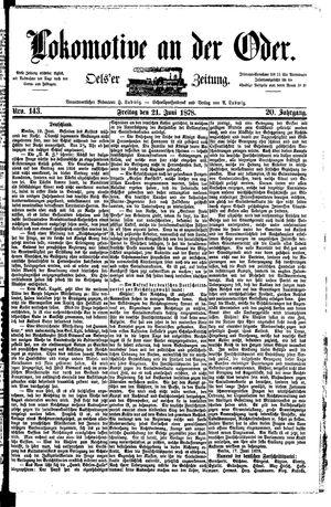 Lokomotive an der Oder vom 21.06.1878