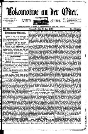 Lokomotive an der Oder vom 27.06.1878