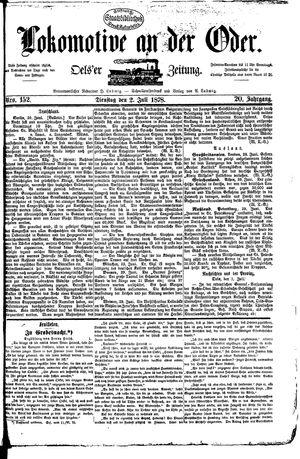 Lokomotive an der Oder vom 02.07.1878