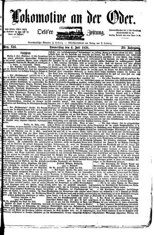 Lokomotive an der Oder vom 04.07.1878