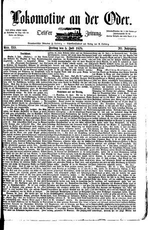 Lokomotive an der Oder vom 05.07.1878