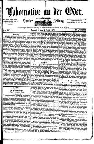 Lokomotive an der Oder vom 06.07.1878