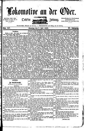 Lokomotive an der Oder vom 07.07.1878