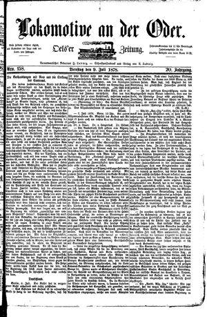 Lokomotive an der Oder vom 09.07.1878