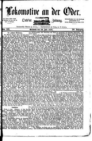 Lokomotive an der Oder vom 10.07.1878