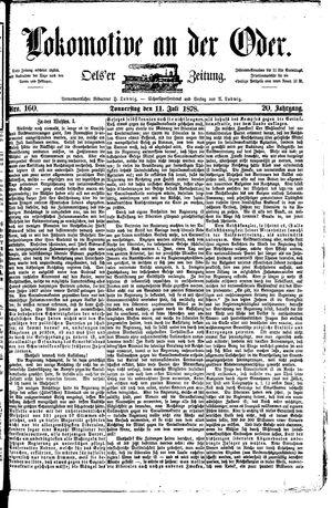 Lokomotive an der Oder vom 11.07.1878