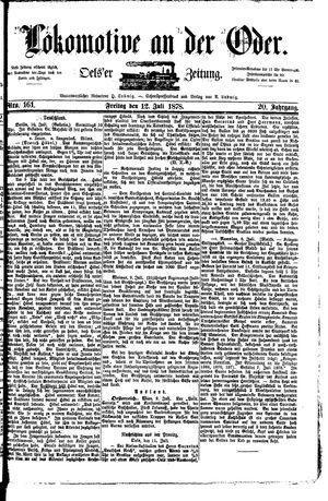 Lokomotive an der Oder vom 12.07.1878