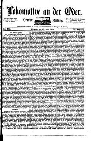 Lokomotive an der Oder vom 17.07.1878