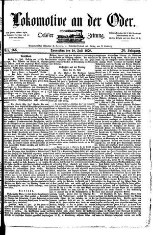 Lokomotive an der Oder vom 18.07.1878