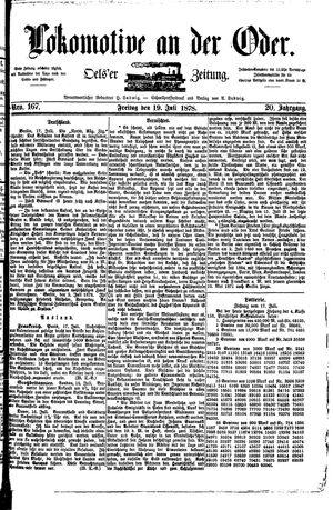 Lokomotive an der Oder vom 19.07.1878