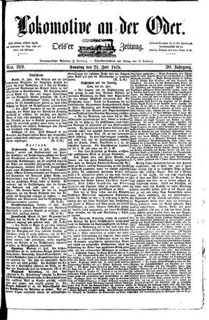 Lokomotive an der Oder vom 21.07.1878