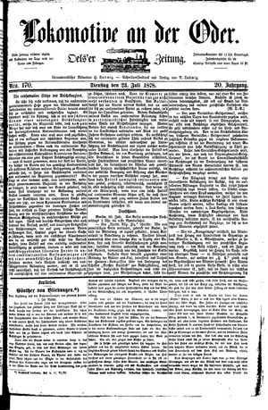 Lokomotive an der Oder on Jul 23, 1878