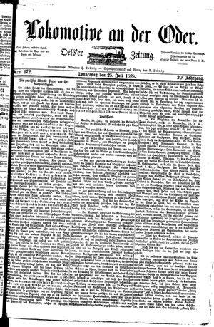 Lokomotive an der Oder vom 25.07.1878