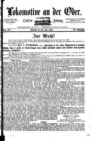 Lokomotive an der Oder vom 28.07.1878