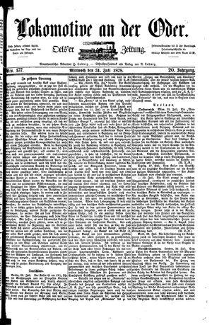 Lokomotive an der Oder vom 31.07.1878
