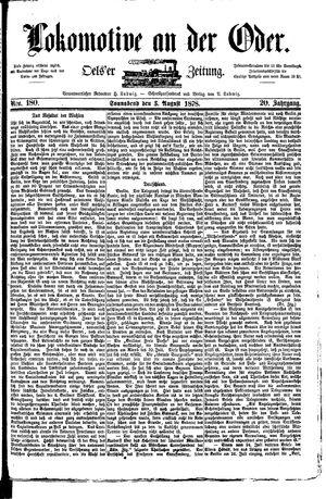 Lokomotive an der Oder vom 03.08.1878