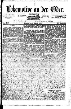 Lokomotive an der Oder vom 06.08.1878