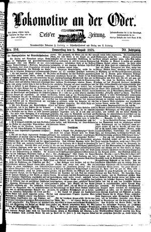 Lokomotive an der Oder vom 08.08.1878