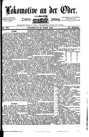 Lokomotive an der Oder vom 10.08.1878