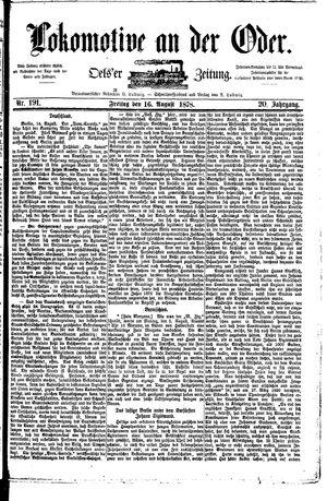 Lokomotive an der Oder vom 16.08.1878